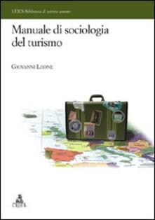 Manuale di sociologia del turismo - Giovanni Leone - copertina