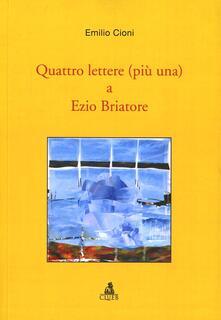 Quattro lettere (più una) a Ezio Briatore - Emilio Cioni - copertina