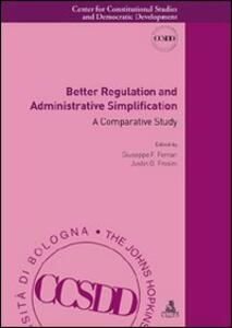 Better Regulation and Administrative Simplification. A Comparative Study
