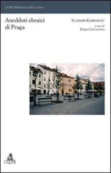 Aneddoti ebraici di Praga - Vladimir Karbusicky - copertina