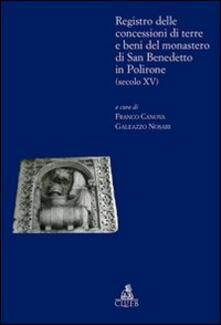 Registro delle concessioni di terre e beni del monastero di San Benedetto in Polirone (secolo XV) - copertina