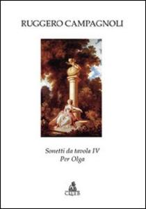 Libro Sonetti da tavola IV. Per Olga Ruggero Campagnoli