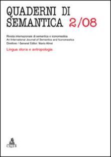 Quaderni di semantica (2009). Vol. 2 - copertina