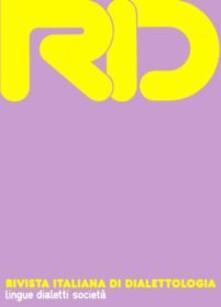 RID. Rivista italiana di dialettologia. Vol. 35 - copertina