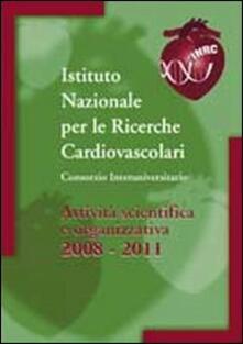 Attività scientifica e organizzativa 2008-2011 - copertina