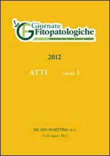 Atto Giornate fitopatologiche 2012 (Milano marittima, 13-16 marzo 2012) - copertina