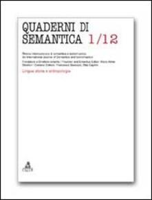 Quaderni di semantica (2012). Vol. 1 - copertina