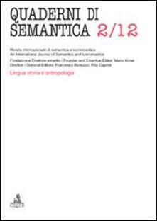 Quaderni di semantica (2012). Vol. 2 - copertina
