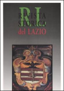 Rivista storica del Lazio. Vol. 11 - copertina