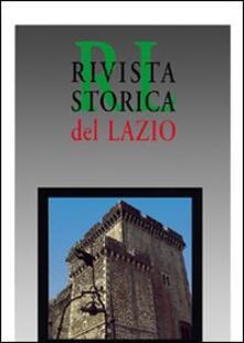 Rivista storica del Lazio. Vol. 12 - copertina