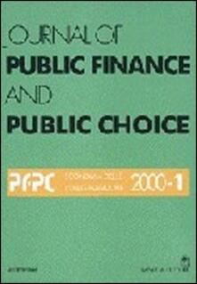 Radiospeed.it Journal of public finance and public choice. Economia delle scelte pubbliche (2000). Vol. 1 Image