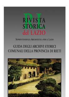 Guida agli archivi storici comunali della provincia di Rieti - copertina