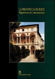La provincia di Rieti. Repertorio dei monumenti - copertina