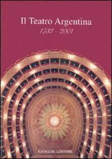Teatro Argentina 1732-2001 - copertina