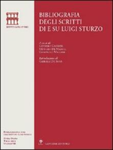 Bibliografia degli scritti di e su Luigi Sturzo - copertina