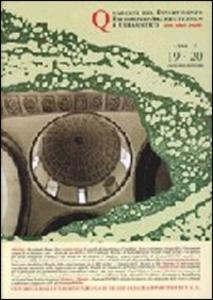 Libro Quaderno di architettura e urbanistica dell'Università degli studi di Catania vol. 19-20