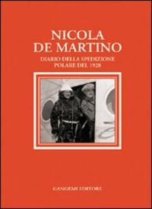 Nicola De Martino. Diario della spedizione polare del 1929 - Nicola De Martino - copertina