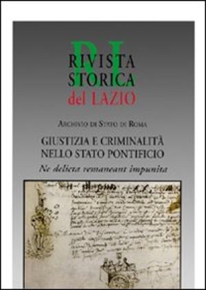 Giustizia e criminalità nello Stato pontificio