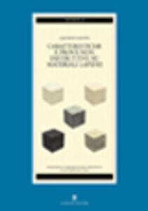 Caratteristiche e prove non distruttive dei materiali lapidei