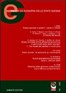 GE. Diritto ed economia dello Stato sociale (2002). Vol. 2