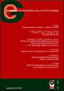 GE. Diritto ed economia dello Stato sociale (2002). Vol. 2 - Rocco Familiari - copertina