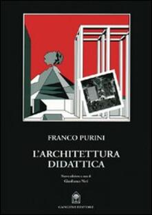 L' architettura didattica - Franco Purini - copertina