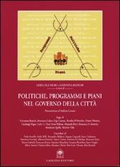 Politiche, programmi e piani nel governo della città