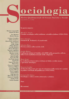 Sociologia. Rivista quadrimestrale di scienze storiche e sociali (2002). Vol. 2 - Gabriele De Rosa - copertina