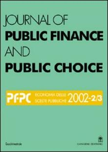 Journal of public finance and public choice. Economia delle scelte pubbliche (2002). Vol. 2 - Domenico Da Empoli - copertina