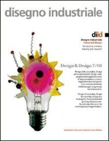 Disegno industriale-Industrial Design. Vol. 7 - Antonio Paris - copertina
