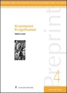 Preprint. Vol. 4: Ri-costruzioni ri-significazioni. - Sabrina Leone - copertina