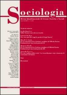 Sociologia. Rivista quadrimestrale di scienze storiche e sociali (2004). Vol. 1 - copertina