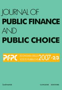 Journal of public finance and public choice n. 2-3 (2007)