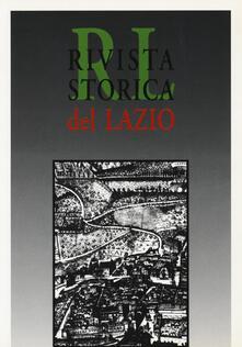 Rivista storica del Lazio. Vol. 20 - copertina