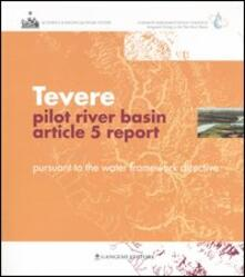 Tevere pilot river basin. Article 5 report. Pursuant to the water framework directive - copertina