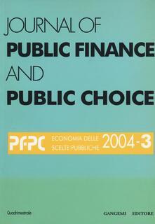 Journal of public finance and public choice (2004). Vol. 3 - copertina