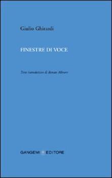 Finestre di voce - Giulio Ghirardi - copertina