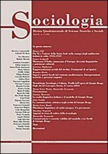Sociologia. Rivista quadrimestrale di scienze storiche e sociali (2006). Vol. 2 - Gabriele De Rosa - copertina