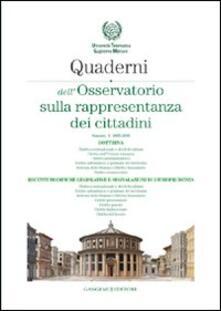 Quaderni dell'osservatorio sulla rappresentanza dei cittadini 2005-2006. Vol. 1 - copertina