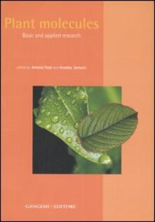 Plant molecules. Basic and applied research - copertina