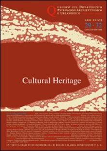 Quaderni PAU. Rivista semestrale del Dipartimento patrimonio architettonico e urbanistico dell'Università di Reggio Calabria vol. 29-32: cultural heritage - copertina