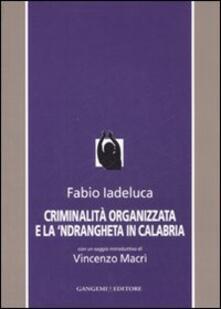 Criminalità organizzata e la 'Ndrangheta in Calabria - Fabio Iadeluca - copertina