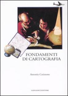 Fondamenti di cartografia - Antonio Catizzone - copertina