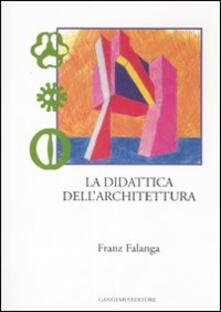 La didattica dell'architettura - Franz Falanga - copertina