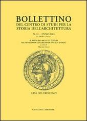 Bollettino del Centro di studi per la storia dell'architettura (2004). Vol. 41