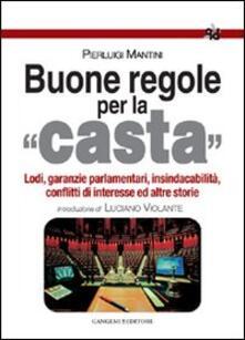 Buone regole per la casta - Pierluigi Mantini - copertina