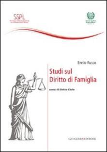 Studi sul diritto di famiglia. Corso di diritto civile - Ennio Russo - copertina