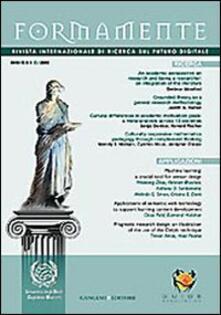 Formamente. Rivista internazionale sul futuro digitale (2009). Ediz. italiana e inglese vol. 1-2 - copertina
