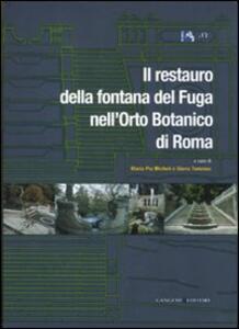 Il restauro della fontana del Fuga nell'Orto Botanico di Roma - copertina