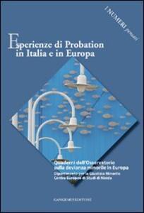 Esperienze di probation in Italia e in Europa. I numeri pensati - Silvana Mordeglia,Isabella Mastropasqua - copertina